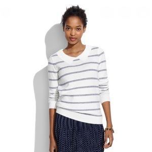 Madewell Striped Collar Sweater Size Small